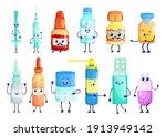 pharmaceuticals cartoon... | Shutterstock .eps vector #1913949142