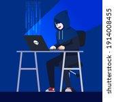 hacker activity. hacking... | Shutterstock .eps vector #1914008455