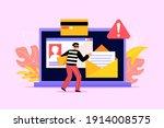 hacker activity. hacking...   Shutterstock .eps vector #1914008575