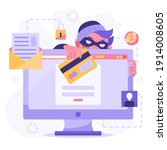 hacker activity. hacking... | Shutterstock .eps vector #1914008605