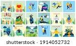 mental health illustration... | Shutterstock .eps vector #1914052732