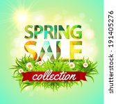 spring sale collection. bright... | Shutterstock . vector #191405276