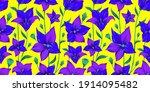 modern flower seamless pattern... | Shutterstock .eps vector #1914095482
