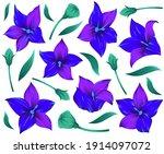 modern flower design for print. ... | Shutterstock .eps vector #1914097072