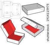 cardboard box for postal mail.  ...   Shutterstock .eps vector #1914115975