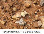 yellow soil and stones by the... | Shutterstock . vector #1914117238