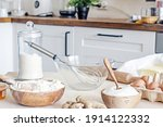 White Kitchen Table With...