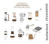 alternative coffee brewing... | Shutterstock .eps vector #1914143935