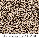 leopard print vector seamless. ... | Shutterstock .eps vector #1914149908