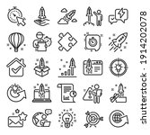 startup line icons. launch... | Shutterstock .eps vector #1914202078