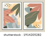 botanical set vector wall art.... | Shutterstock .eps vector #1914205282