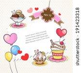 frame sweet cupcakes   Shutterstock . vector #191423318