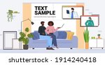 patients discussing with... | Shutterstock .eps vector #1914240418