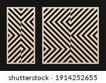 laser cut pattern set. vector... | Shutterstock .eps vector #1914252655