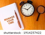 manage your time concept of...   Shutterstock . vector #1914257422