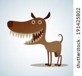 Dog With Big Teeth  Vector