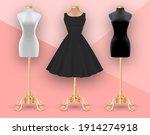 Set Of Mannequins. Black Womens ...