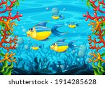 many exotic fishes cartoon...   Shutterstock .eps vector #1914285628