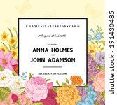 vintage wedding invitation.... | Shutterstock .eps vector #191430485