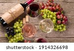 Variety Of Wine And Snack Set....