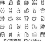 food line icon set   hot cup ... | Shutterstock .eps vector #1914343132