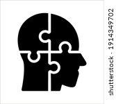 simple head puzzle mind design... | Shutterstock .eps vector #1914349702