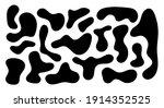 irregular blob  set of abstract ... | Shutterstock .eps vector #1914352525