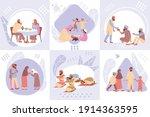 ramadan design concept with set ... | Shutterstock .eps vector #1914363595