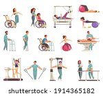 medical physiotherapy... | Shutterstock .eps vector #1914365182