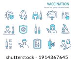 vaccine icons  such as syringe  ... | Shutterstock .eps vector #1914367645