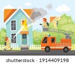 Fireman Put Out House Fire ...