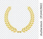 realistic golden vector laurel... | Shutterstock .eps vector #1914415822