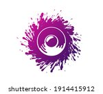 sound speaker and color ink...   Shutterstock .eps vector #1914415912