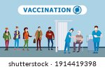 vaccination people for immunity ... | Shutterstock .eps vector #1914419398