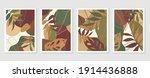 botanical wall art vector set....   Shutterstock .eps vector #1914436888