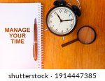 manage your time concept of...   Shutterstock . vector #1914447385