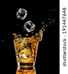 Glass Of Whiskey With Splash O...