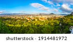 Panoramic Aerial View Of City...