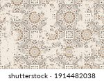 seamless vintage pattern with... | Shutterstock .eps vector #1914482038