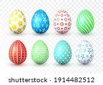 happy easter. color easter eggs ...   Shutterstock .eps vector #1914482512