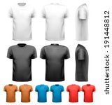 colorful male t shirts. design... | Shutterstock .eps vector #191448812