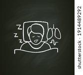 sleep study chalk icon. unusual ... | Shutterstock .eps vector #1914489292