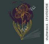 contemporary art posters irises ... | Shutterstock .eps vector #1914503908