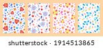 set of cover templates with...   Shutterstock .eps vector #1914513865