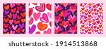 set of cover templates with...   Shutterstock .eps vector #1914513868