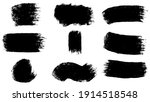 big set of black grunge stroke... | Shutterstock .eps vector #1914518548