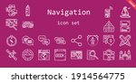 navigation icon set. line icon... | Shutterstock .eps vector #1914564775