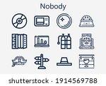 premium set of nobody  s  icons.... | Shutterstock .eps vector #1914569788