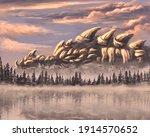 Sleeping Dragon Behing The...