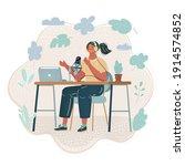 cartoon vector illustration of... | Shutterstock .eps vector #1914574852